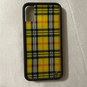 Wildflower Yellow Plaid iPhone X/XS Case